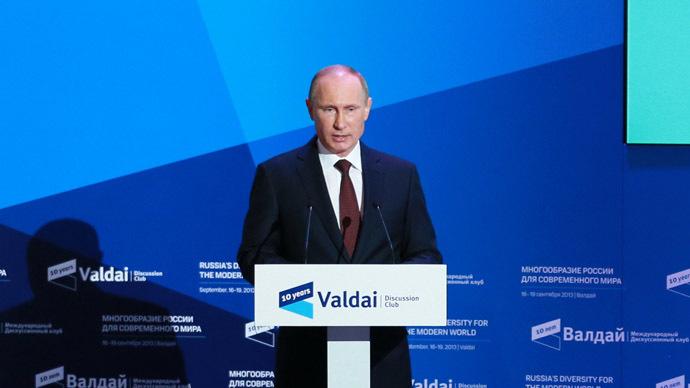 """Valdajský"" prejav Vladimíra Putina v Soči"