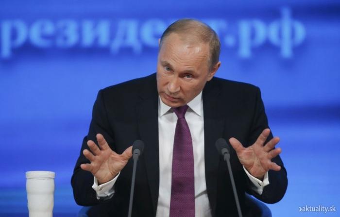 Vyjadrenie názoru V. Putina na margo slovanských národov v súvislosti so sankciami voči Rusku.